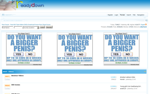Access readydown.com using Hola Unblocker web proxy