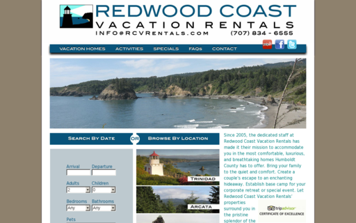 Access redwoodcoastvacationrentals.com using Hola Unblocker web proxy