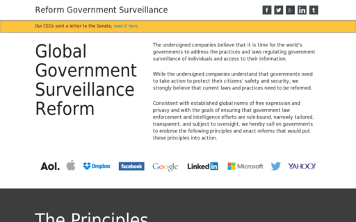 Access reformgovernmentsurveillance.com using Hola Unblocker web proxy