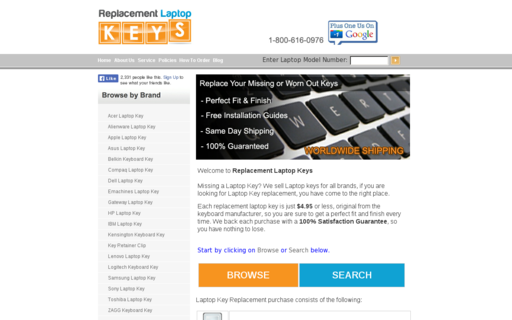 Access replacementlaptopkeys.com using Hola Unblocker web proxy