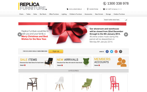 Access replicafurniture.com.au using Hola Unblocker web proxy