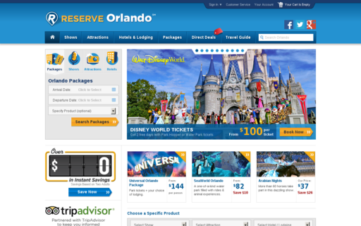 Access reserveorlando.com using Hola Unblocker web proxy