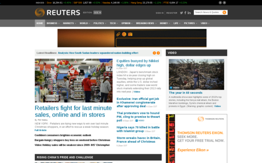 Access reuters.com using Hola Unblocker web proxy