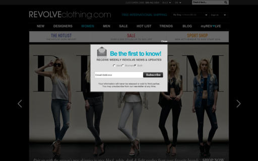 Access revolveclothing.com using Hola Unblocker web proxy