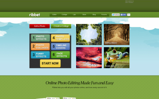 Access ribbet.com using Hola Unblocker web proxy