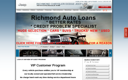 Access richmondchrysler.com using Hola Unblocker web proxy