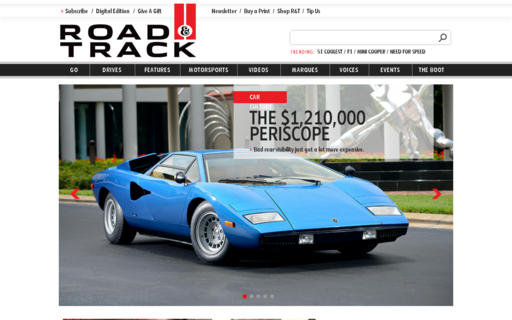 Access roadandtrack.com using Hola Unblocker web proxy