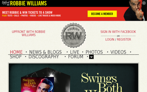 Access robbiewilliams.com using Hola Unblocker web proxy