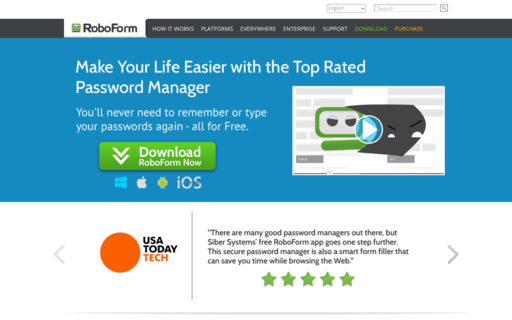 Access roboform.com using Hola Unblocker web proxy
