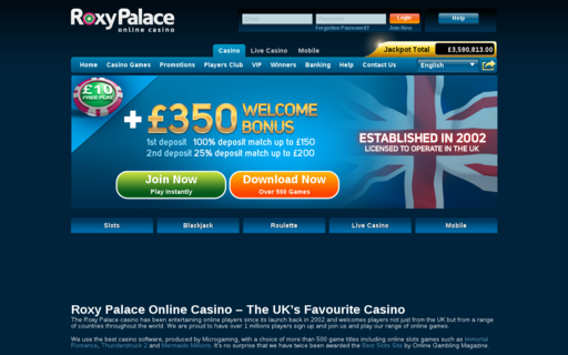 Access roxypalace.com using Hola Unblocker web proxy