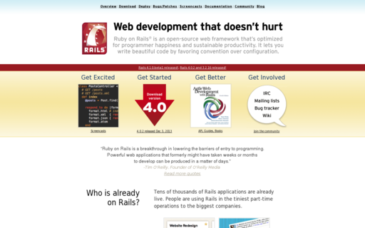Access rubyonrails.org using Hola Unblocker web proxy