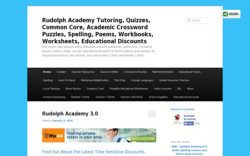 Access rudolphacademy.com using Hola Unblocker web proxy