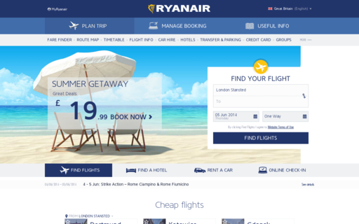Access ryanair.ie using Hola Unblocker web proxy