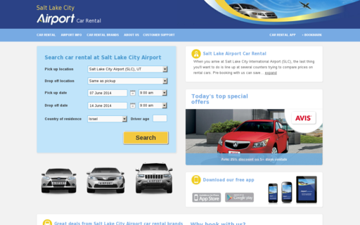 Access saltlakeairportcarrental.com using Hola Unblocker web proxy