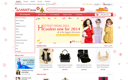 Access sammydress.com using Hola Unblocker web proxy