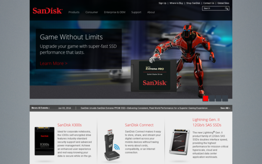 Access sandisk.com using Hola Unblocker web proxy