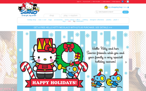 Access sanrio.com using Hola Unblocker web proxy