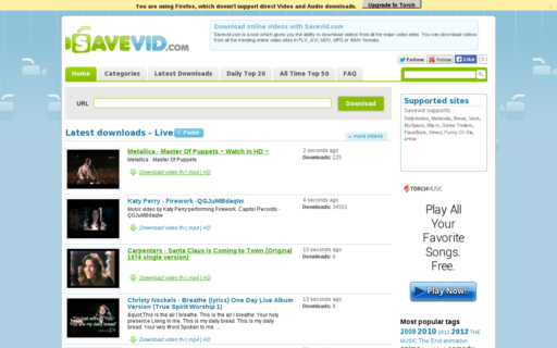 Access savevid.com using Hola Unblocker web proxy