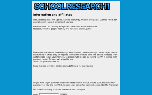 Access schoolresearch1.com using Hola Unblocker web proxy