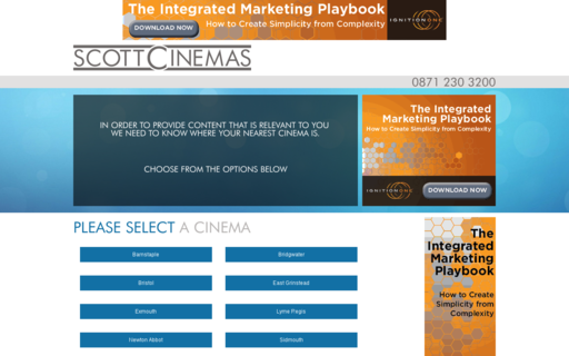 Access scottcinemas.co.uk using Hola Unblocker web proxy
