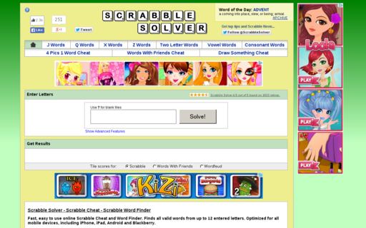 Access scrabble-solver.com using Hola Unblocker web proxy