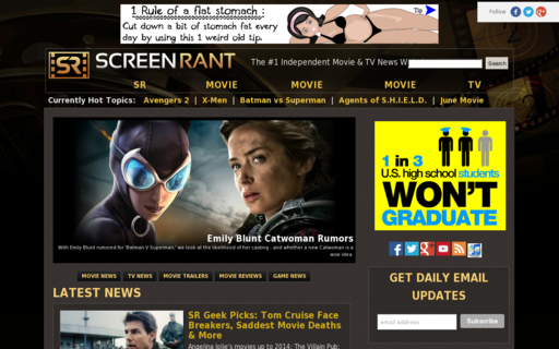 Access screenrant.com using Hola Unblocker web proxy