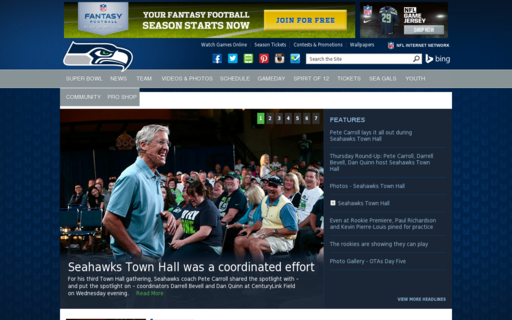 Access seahawks.com using Hola Unblocker web proxy