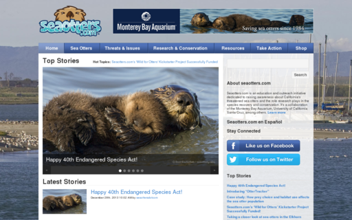 Access seaotters.com using Hola Unblocker web proxy