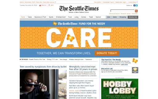 Access seattletimes.com using Hola Unblocker web proxy