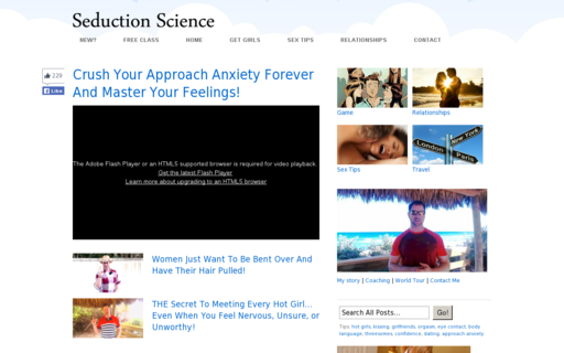 Access seductionscience.com using Hola Unblocker web proxy