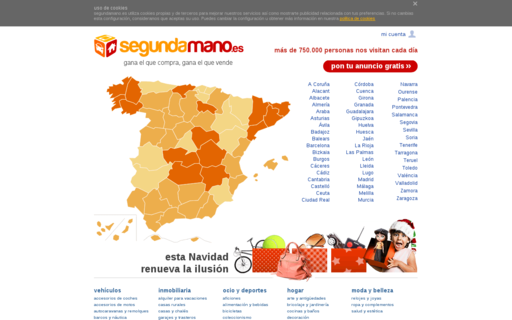 Access segundamano.es using Hola Unblocker web proxy