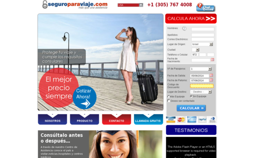 Access seguroparaviaje.com using Hola Unblocker web proxy