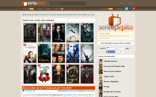 Access seriespepito.com using Hola Unblocker web proxy