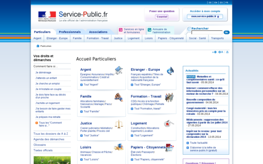 Access service-public.fr using Hola Unblocker web proxy