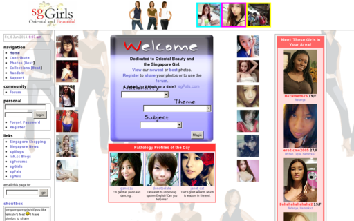 Access sggirls.com using Hola Unblocker web proxy