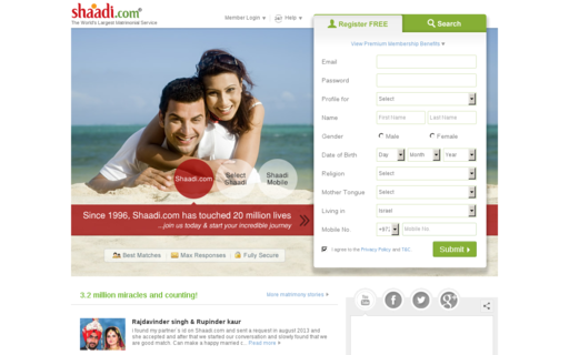 Access shaadi.com using Hola Unblocker web proxy