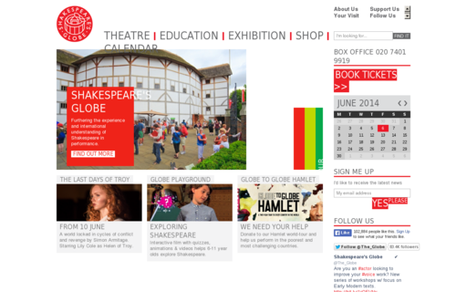 Access shakespearesglobe.com using Hola Unblocker web proxy