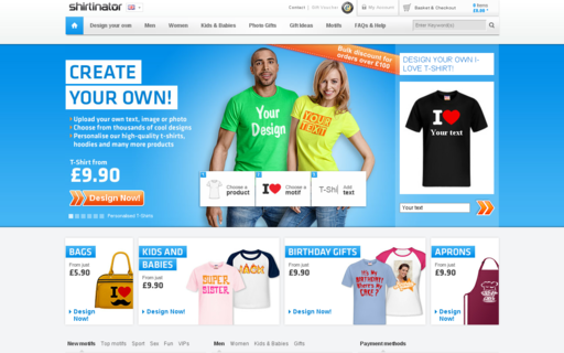 Access shirtinator.co.uk using Hola Unblocker web proxy