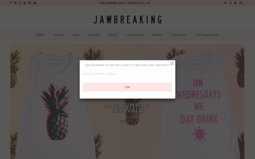 Access shopjawbreaking.com using Hola Unblocker web proxy