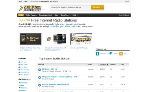 Access shoutcast.com using Hola Unblocker web proxy