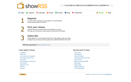 Access showrss.info using Hola Unblocker web proxy