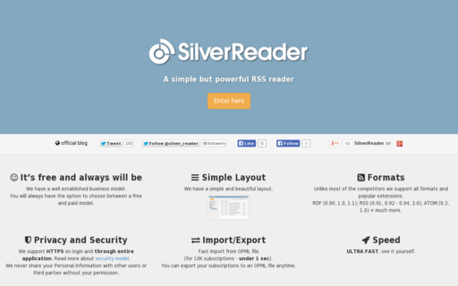Access silverreader.com using Hola Unblocker web proxy