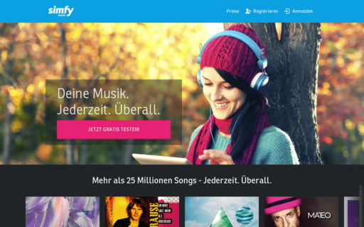 Access simfy.de using Hola Unblocker web proxy