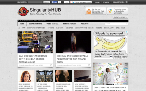 Access singularityhub.com using Hola Unblocker web proxy