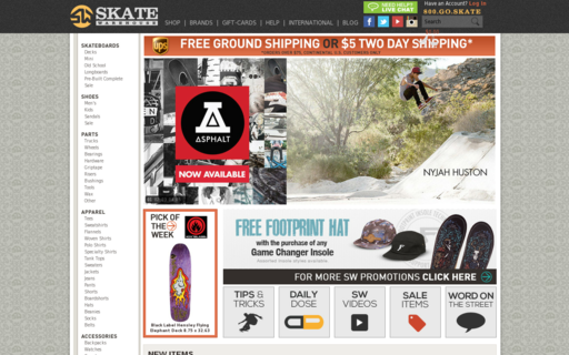 Access skatewarehouse.com using Hola Unblocker web proxy