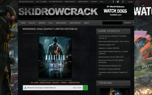 Access skidrowcrack.com using Hola Unblocker web proxy
