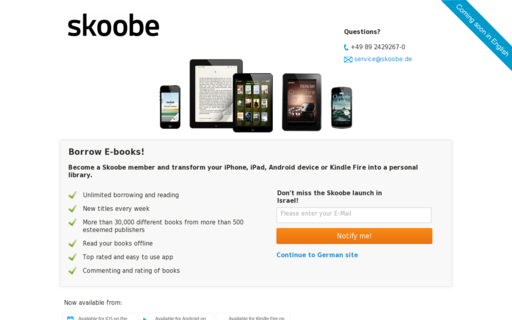 Access skoobe.de using Hola Unblocker web proxy