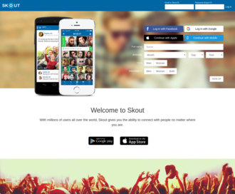 Access skout.com using Hola Unblocker web proxy