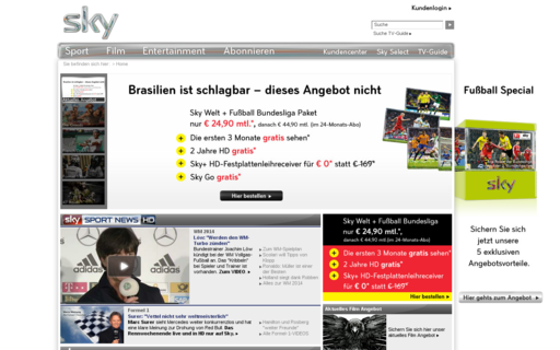 Access sky.de using Hola Unblocker web proxy