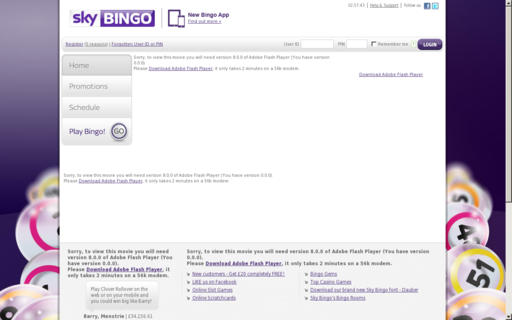 Access skybingo.com using Hola Unblocker web proxy
